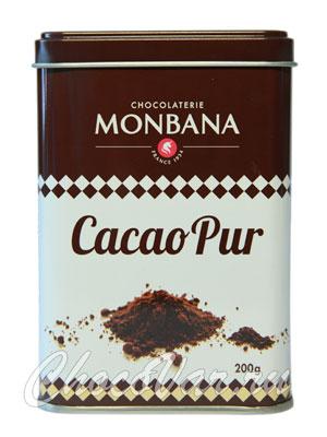Monbana Какао 100% 200 гр ж.б.
