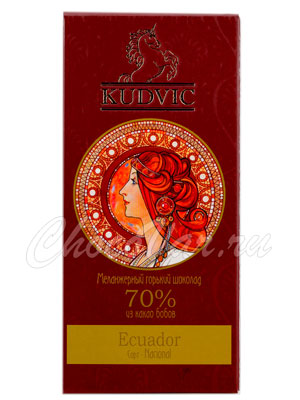 Шоколад Kudvic 70% Dominican Republic Hispaniola Bio