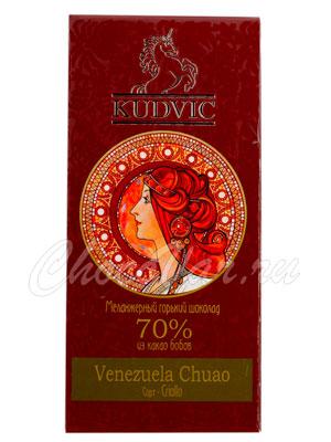 Шоколад Kudvic 70% из какао бобов Venezuela Chuao