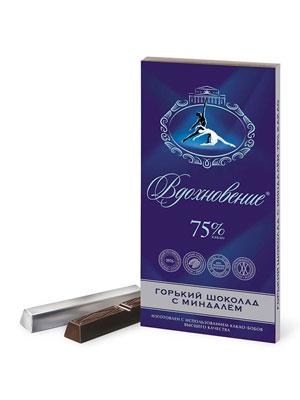 Шоколад Бабаевский Вдохновение Элитный с миндалем 75% 100 гр