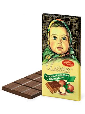 Шоколад Красный Октябрь Аленка с фундуком 200 гр