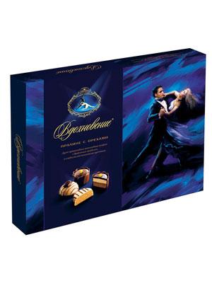 Набор конфет Красный Октябрь Вдохновение Пралине с орехами 170 гр