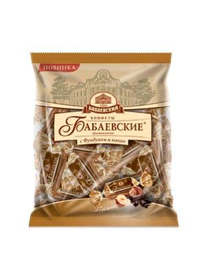 Конфеты Бабаевские Оригинальные с фундуком и какао 250 гр