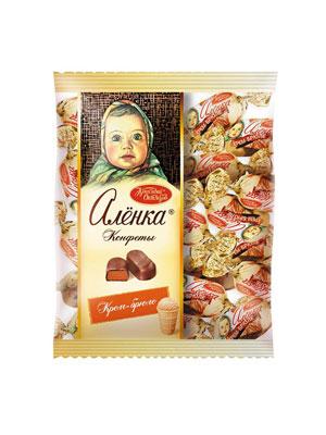 Конфеты Красный Октябрь Аленка крем брюле овал 250 гр