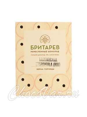 Бритарев шоколад горький 70 % какао зерна и горчицы 30 гр