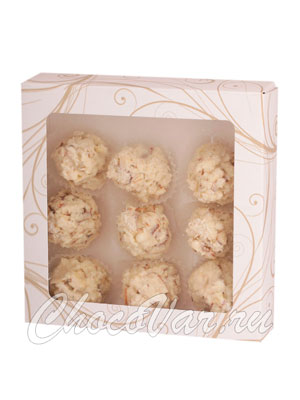 Бритарев кроканты кокосовые в белом шоколаде 140 гр