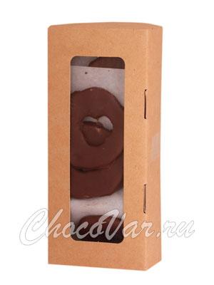 Бритарев яблочные колечки в молочном шоколаде 150 гр