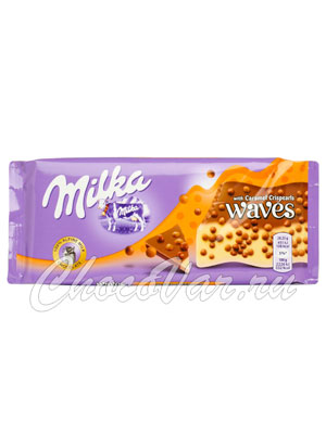 Шоколад Milka Waves Caramel 81 гр